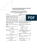 Analytical Estimation of the Gravitational Constant With Atomic and Nuclear Physical Constants