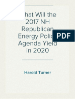 What Will the 2017 NH Republican Energy Policy Agenda Yield in 2020