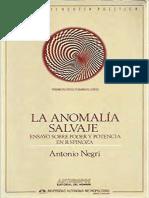 Negri Antonio -La Anomalía Salvaje _ Ensayo Sobre Poder y Potencia en Baruch Spinoza-Anthropos _ Universidad Autónoma Metropolitana-Iztapalapa (1993)