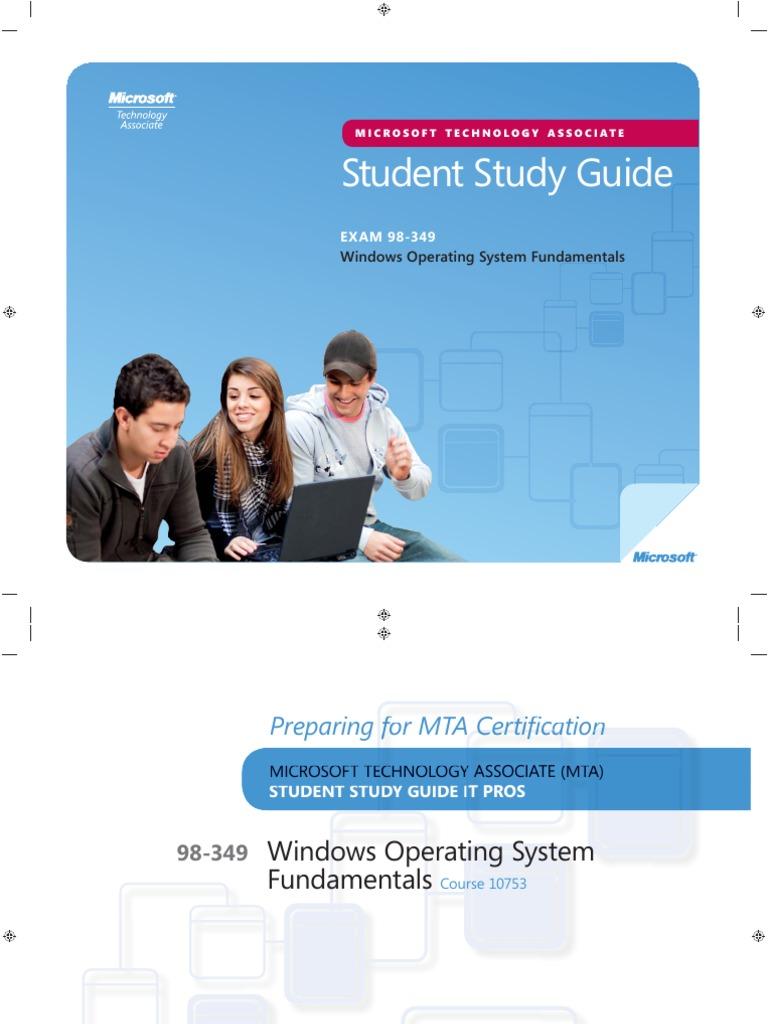 98 349 windows os fundamentals study guide pdf installation rh scribd com microsoft mta networking fundamentals study guide Microsoft MTA Logo