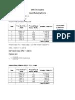 Capital Budgeting Criteria