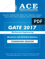 ME GATE 2017 Forenoon-Sesstion