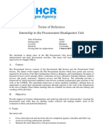 Internship at UN Refugee Agency_Procurement Unit
