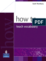 Scott Thornbury How to Teach Vocabulary