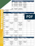 March 2017 Class Schedule