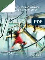 Survey | Punishing CEOs for Bad Behavior