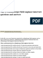 Top 10 schlumberger field engineer interview questions and answers