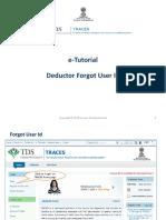 E-Tutorial - Deductor Forgot User Id