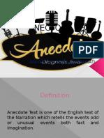 Anectode Text