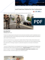 New York National Guard Units Scan Vehicles for Gun Confiscations
