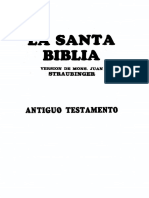 Straubinger, Juan - Biblia Comentada, Antiguo Testamento