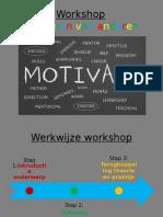 workshop motiveren van anderen