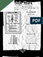 Little Fears - Character Sheet
