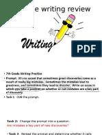 7th gr fsa writing review
