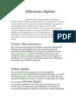 Tipos de Publicaciones Digitales