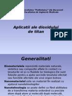 Aplicatii Ale Dioxidului de Titan
