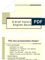A Brief History of English Sounds