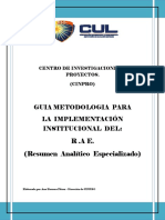 Guia Metodologica Del RAE CUL