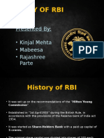 History of Rbi