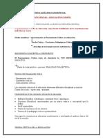 Sintesis de Temas Nº 1 y 2 de Filosofía - Ed. Inicial y Común - Período 2016 - 2017