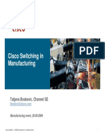 Manufacturing Event Switching