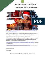 Receitas Natal Saudáveis Doces Final / Healthy recip