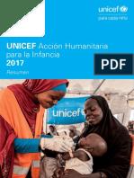 Acción Humanitaria para la Infancia 2017 (Resumen)