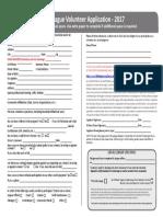 2017 volunteer application