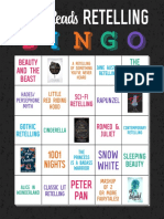 Epic Reads Retelling Bingo Card