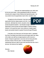 student teaching introduction letter - carminito
