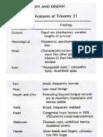 Herman Setiawan. Features of Trisomy 21