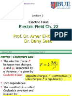 Lec. 2. Ch. 22 .Phys2 Electric F