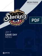 Gameday Suite Menu