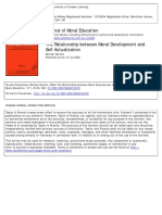 Journal of Moral Education Volume 13 Issue 1 1984 [Doi 10.1080%2F0305724840130105] Daniels, Michael -- The Relationship Between Moral Development and Self‐Actualization