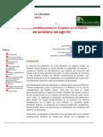 Reforma Constitucional en Ecuador