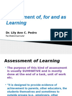 Asessment of for as Learning