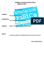 Fines y Principios de La Educacion