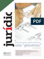 """REMUNERACIONES, PADRÓN ELECTORAL Y VOTOS """"GOLONDRINOS"""""""