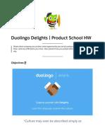 Duolingo Delights | Product School HW