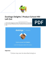 Duolingo Delights | Product School HW - Left Out