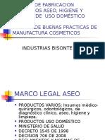 Presentacion Normas de Fabricacion Productos Aseo, Higiene y Bpm Cosmeticos