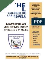 Colegio de Las Artes y Letras AFICHE PROPUESTA