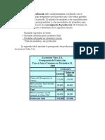 El Presupuesto de Produccion De