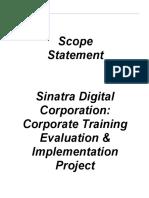 group 7 scope statement