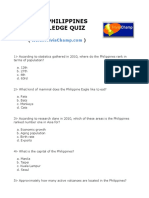 Basic Philippines Knowledge Quiz