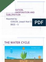 Transpiration, Evapotranspiration and Sublimation