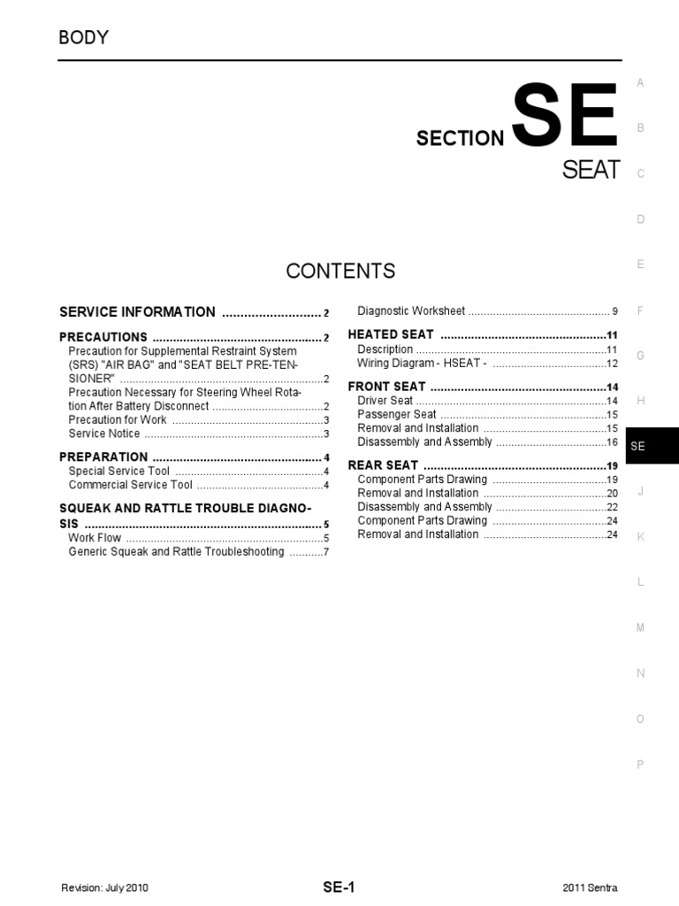 Nissan Sentra Service Manual: Additional service when removing battery negative terminal