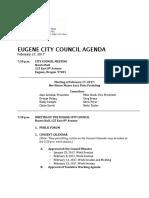 February 27 Eugene City Council agenda packet