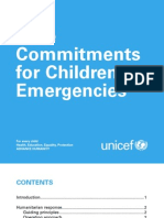 Core Commitments for Children in Emergencies