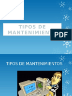 Tipos de Mantenimientos Power Point Azul